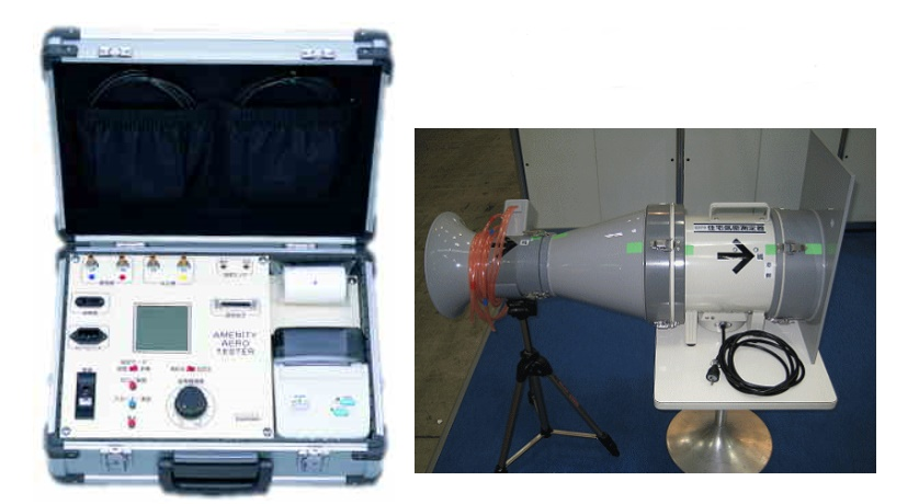 高気密高断熱住宅を数値で検証・証明する気密測定器
