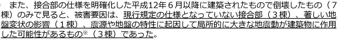 熊本地震における家屋倒壊原因の半数が施工不良