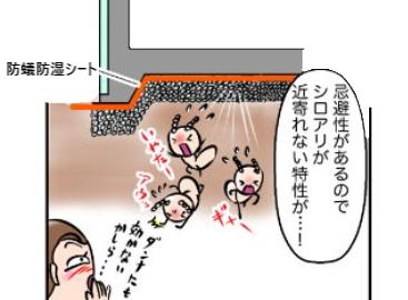 新築時にしかできない防蟻防湿シートによるシロアリ対策