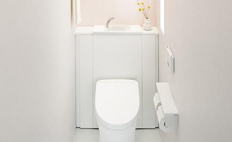 便器の真後ろ中央部に手洗いがあると使いづらい