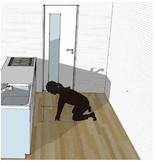 換気システムの排気フィルターは手の届く掃除しやすい場所に