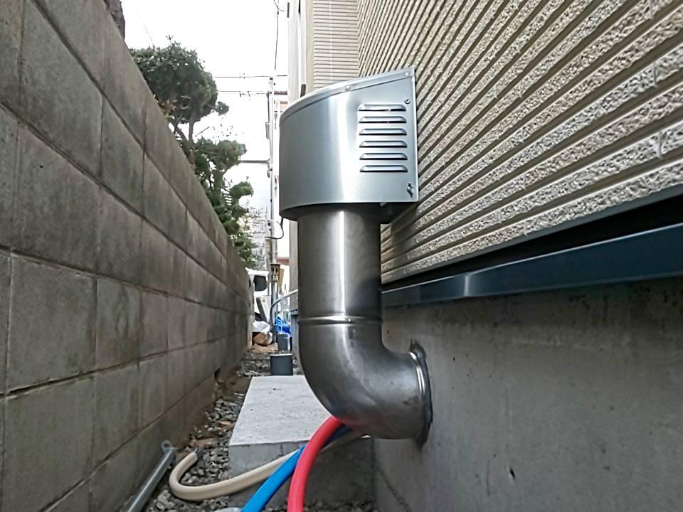 新築時の床下浸水対策:基礎部から立ち上げた排気口(積雪地域用)