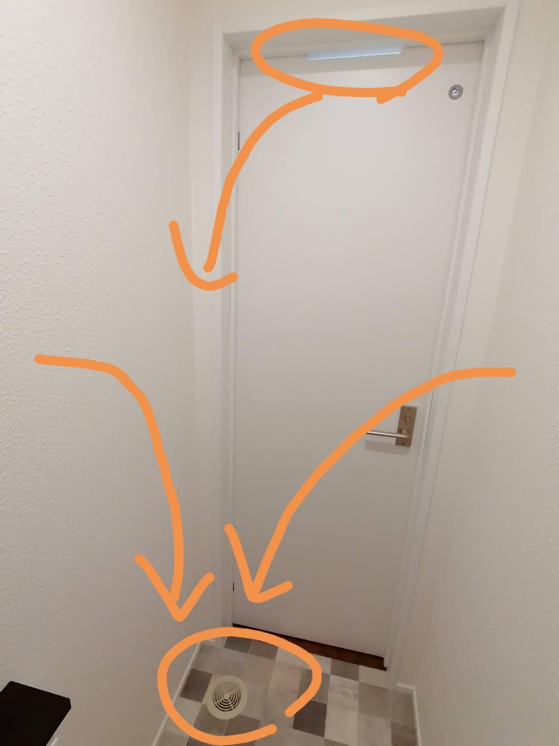 トイレのにおい対策(アッパーカット+床面排気)
